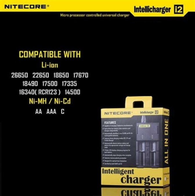 Nitecore Intellicharger i2 V.2 - i4 V.2