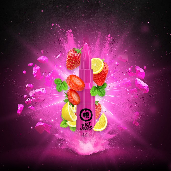 Riot Squad - Pink Grenade 50ml Short Fill (Including 10ml Nic Shot)