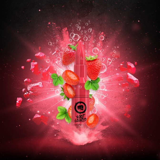 Riot Squad - Strawberry Scream 50ml Short Fill (Including 10ml Nic Shot)