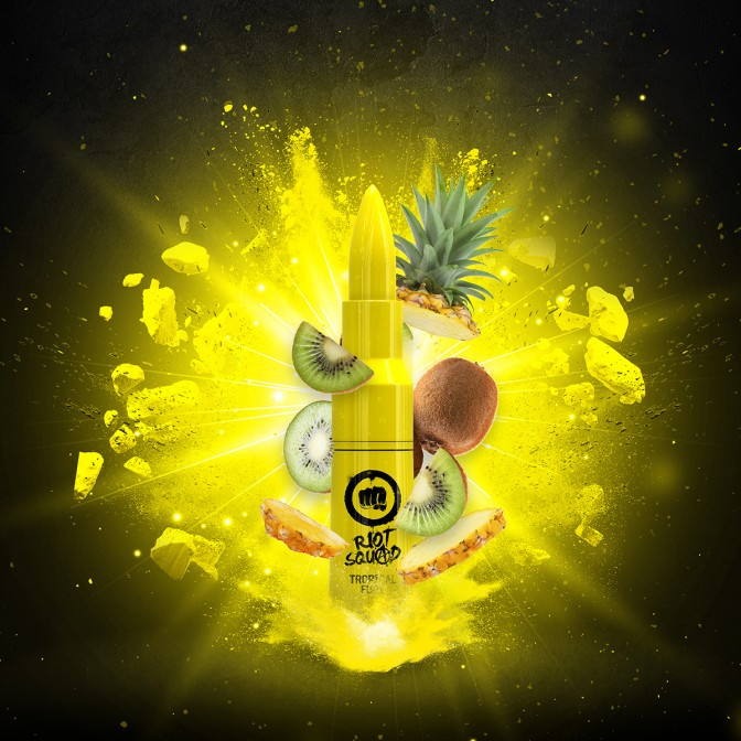Riot Squad - Tropical Fury 50ml Short Fill (Including 10ml Nic Shot)