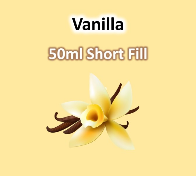 VaperVapour - Vanilla 50ml Short Fill