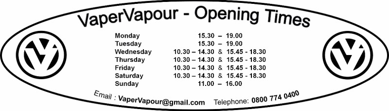 VaperVapour store times